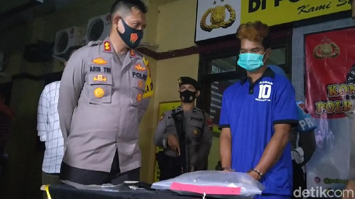 Pelaku pembunuhan yang mayat korban ditemukan di Sungai Welo, Kabupaten Pekalongan, Kamis (24/9/2020).