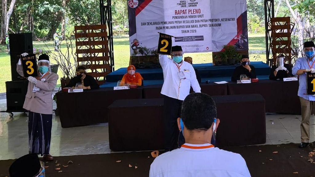 Pertarungan 3 Paslon di Pilbup Sukabumi, Ini Nomor Urutnya