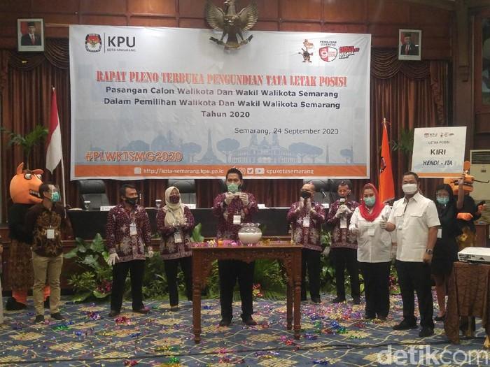 Pengundian nomor urut Pilkada Kota Semarang, Kamis (24/9/2020).