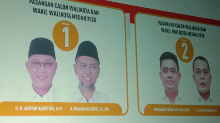 Pengundian nomor urut Pilkada Medan (Ahmad Arfah-detikcom)