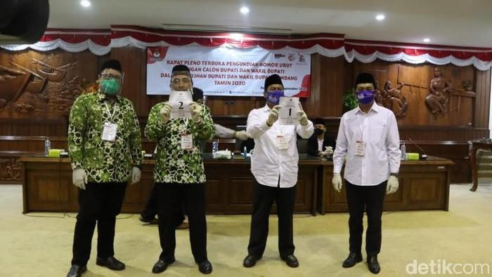 Pengundian nomor urut Pilkada Rembang 2020 di Ruang Rapat Paripurna Gedung DPRD Kabupaten Rembang, Kamis (24/9/2020)