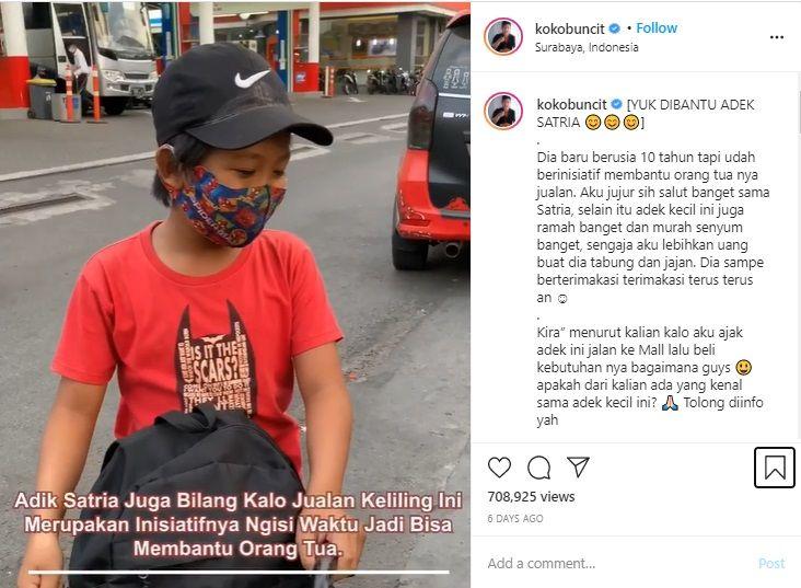 Salut! Satria Ikhlas Jadi Penjual Makaroni Demi Bantu Orang Tua