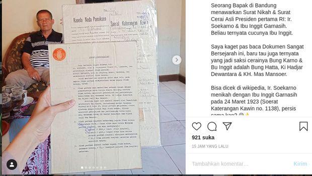 Surat nikah Soekarno