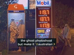 Tren Ghost Photoshoot Viral di Tiktok, Dandan ala Hantu Berkain Putih