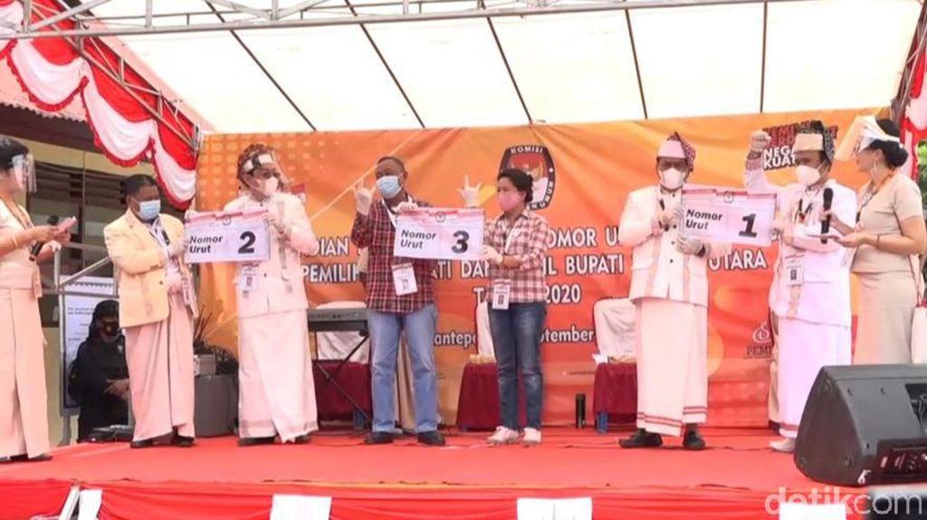 KPU Toraja Utara Tetapkan Nomor Urut 3 Paslon Cabup