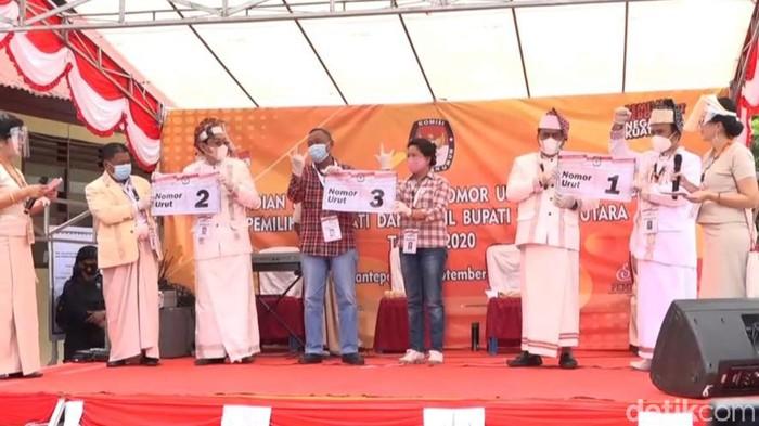 KPU Toraja Utara tetapkan nomor urut terhadap 3 paslon bupati dan wabup