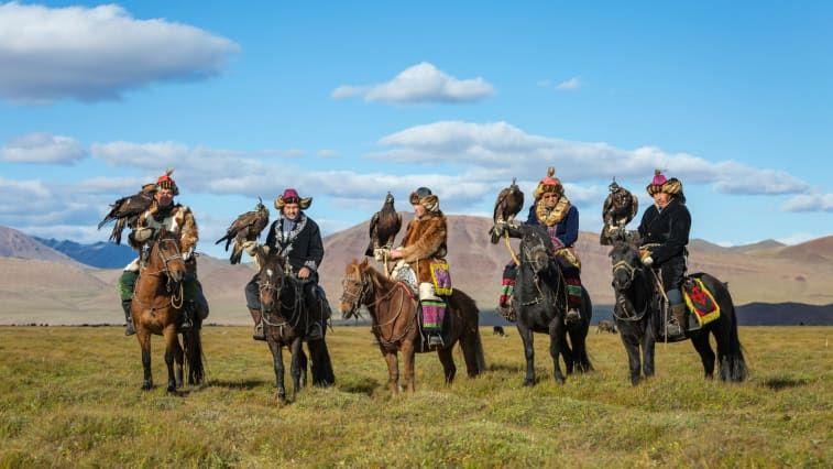 Pemburu elang Mongolia