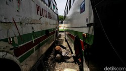 Ngenes! Nasib Armada Bus Pluit Jaya yang Kini Dijual Kiloan