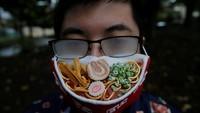 Seniman Jepang Bikin Masker 3D Ramen, Ingin Dimakan atau Dipakai Nih?