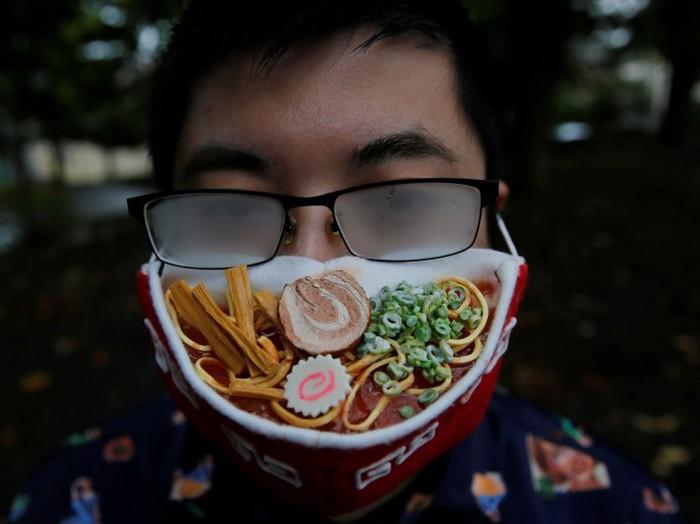 Seniman Jepang Takahiro Shibata Buat Masker Ramen 3D