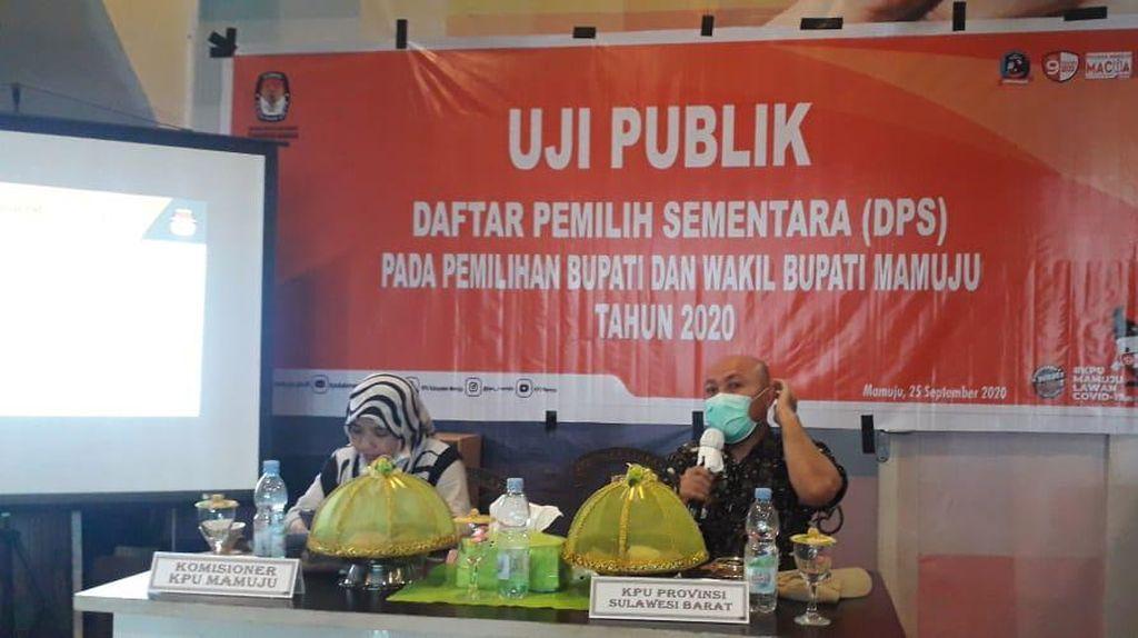 KPU Mamuju Uji Publik Data Pemilih Sementara Pilkada 2020