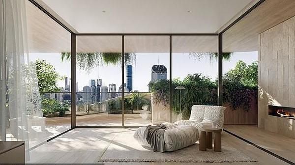 Gedung ini bakal difungsikan sebagai perumahan. Gedung ini akan memaksimalkan pencahayaan alami, serta ventilasi secara silang. Sementara pepohonan yang sengaja ditanam berfungsi sebagai penyedia oksigen. (dok. Binyan Studios/Aria Property Group)