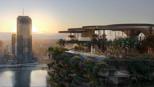 Urban Forest disebut-sebut sebagai calon gedung paling hijau sedunia. Gedung ini merupakan rancangan dari arsitek terkenal bernama Koichi Takada dan diklaim sebagai gedung paling ramah lingkungan dan terhijau. (dok. Binyan Studios/Aria Property Group)