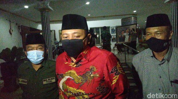 Wali Kota Tegal Dedy Yon Supriyono menemui Gubernur Jawa Tengah Ganjar Pranowo di Semarang, Jumat (25/9/2020).