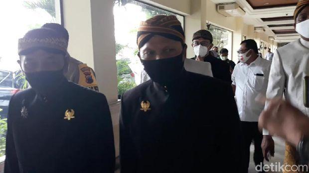 Bagyo Wahyono-FX Supardjo (Bajo) saat menghadiri deklarasi kampanye damai Pilkada Solo di The Sunan Hotel, Sabtu (26/9/2020)