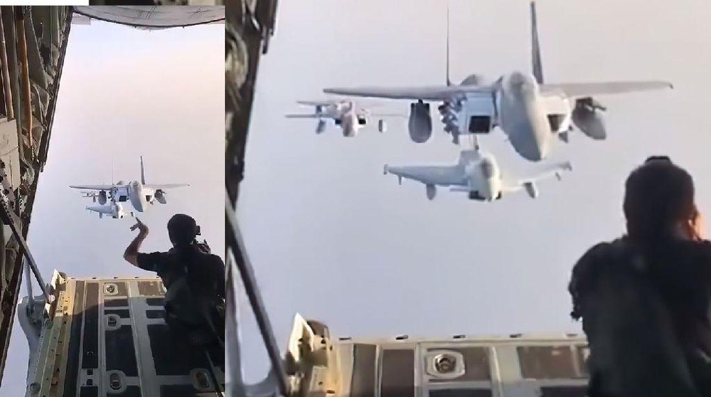 Keren! Momen Fotografer Arahkan Pemotretan Pesawat Tempur di Udara