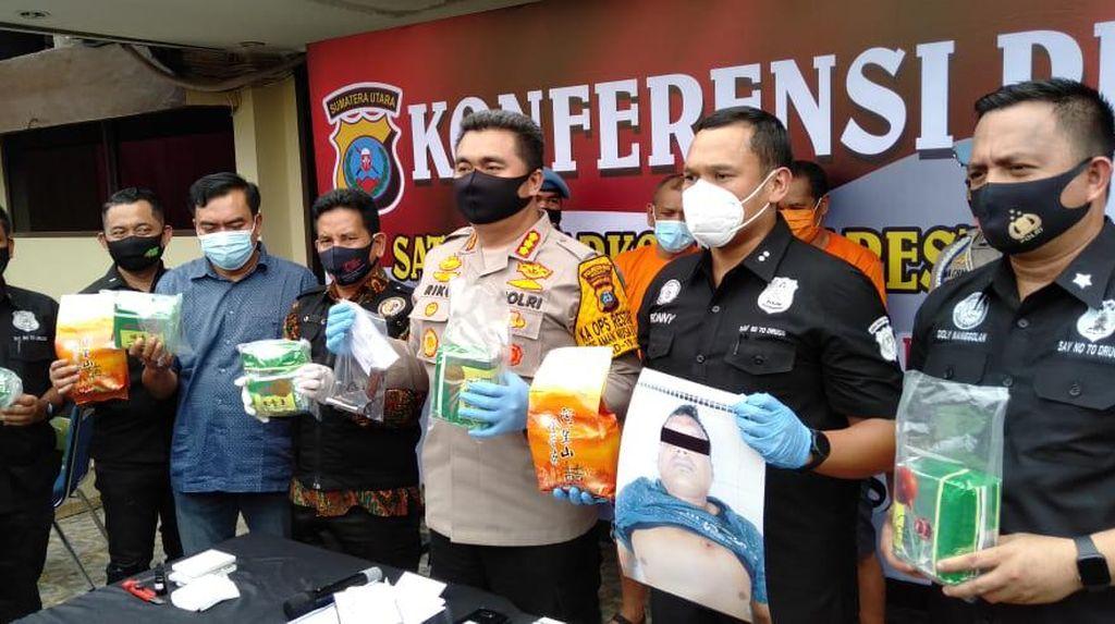Bandar Narkoba di Medan Ditembak Mati Polisi, 7 Kg Sabu Disita