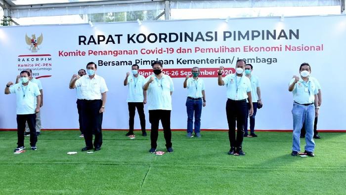 Rapat Koordinasi Pimpinan (Rakorpim) Komite Penanganan COVID-19 dan Pemulihan Ekonomi Nasional (PC-PEN) dan Kementerian/Lembaga (K/L) di Bintan