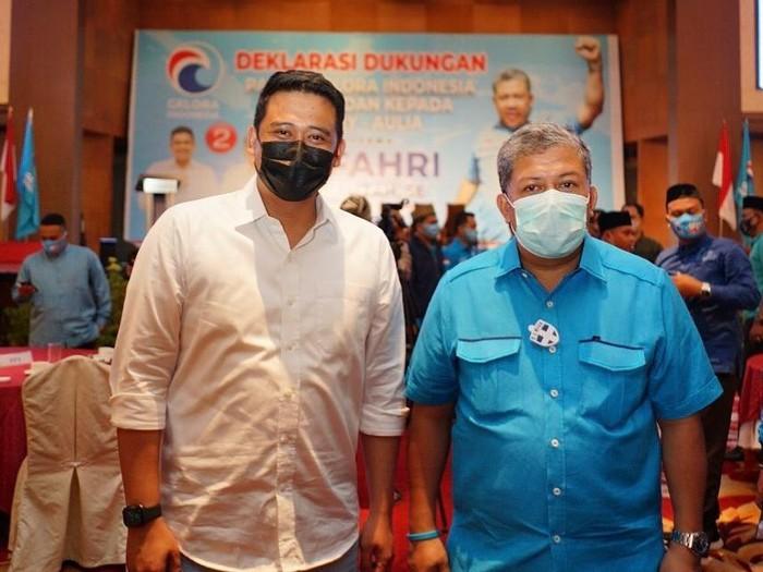 Bobby Nasution bertemu Fahri Hamzah dalam deklarasi dukungan Partai Gelora kepada Bobby-Aulia di Pilkada Medan 2020
