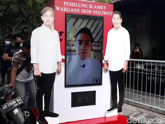 Gibran Rakabuming-Teguh Prakosa kampanye virtual, Solo, Minggu (27/9/2020).