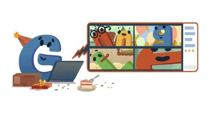 Google Doodle ultah ke-22