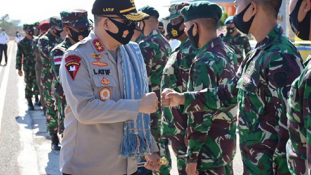 Kapolda NTT Temui Personel TNI-Polri di Perbatasan RI-Timor Leste