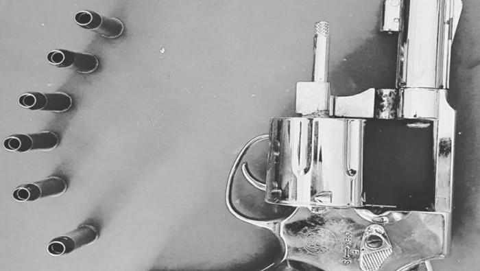 Airsoft gun yang dipakai oknum polisi dalam aksi koboi di jalanan (Antara)