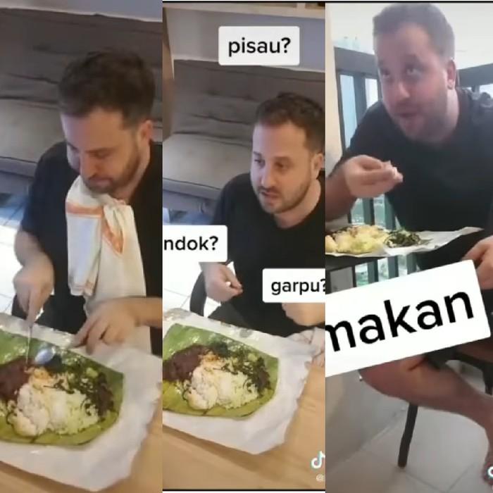 Bule Bandingkan Cara Makan Saat 1 Hari dan 1 Tahun di Indonesia