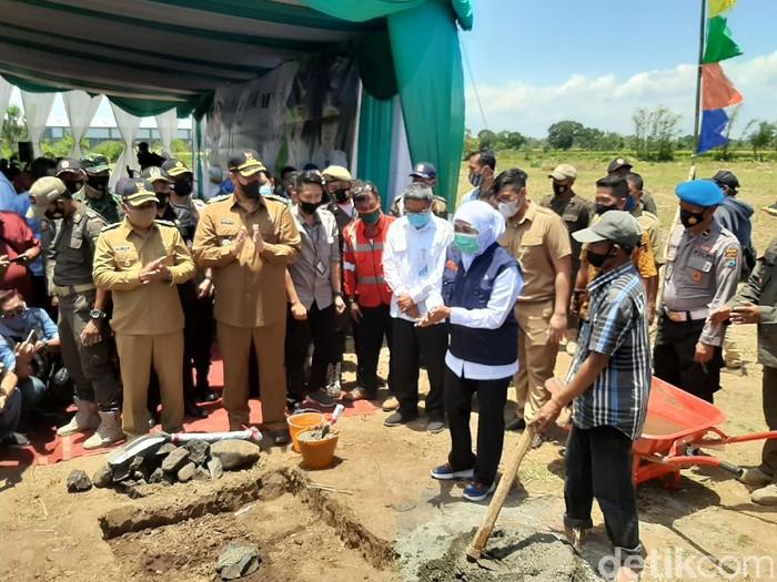gubernur khofifah Peletakan Batu Pertama Pembangunan RSUD Baru Rujukan Di Wilayah Tapal Kuda Kota Probolinggo