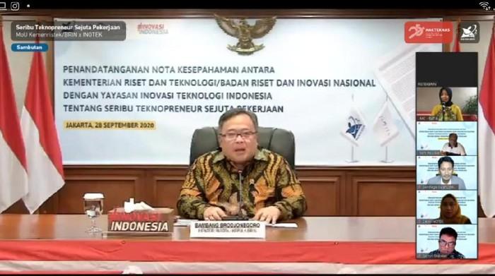 Menristek/Kepala BRIN, Bambang PS Brodjonegoro
