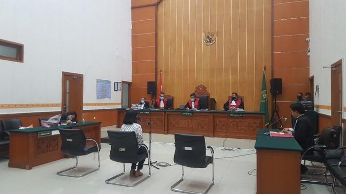 Vanessa Angel di persidangan soal kasus narkoba (Foto: Zunita/detikcom)