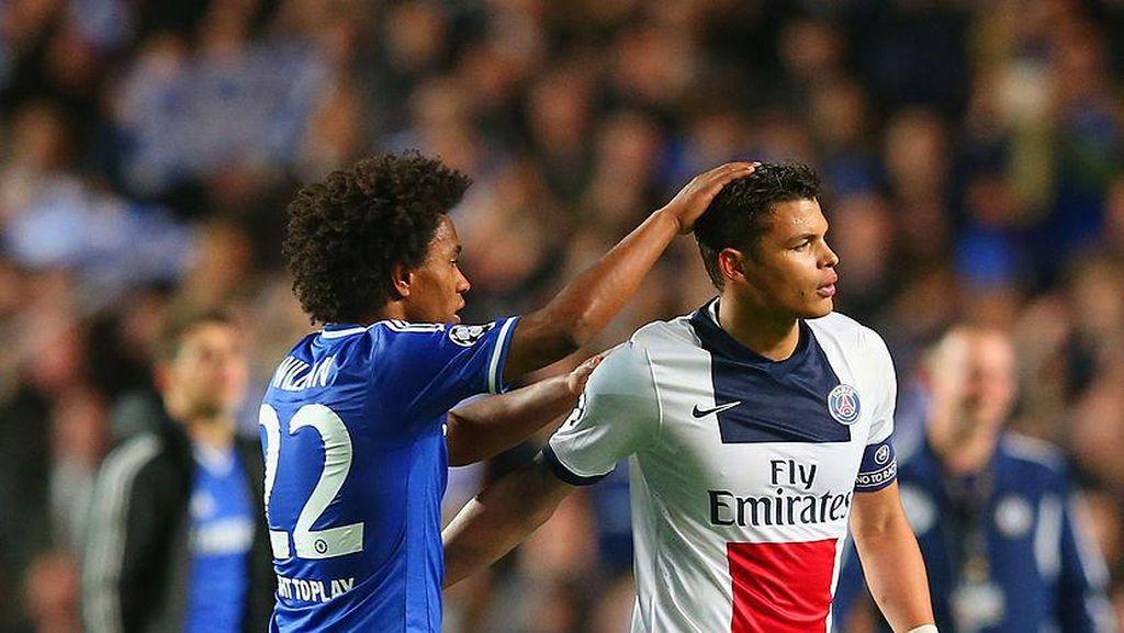 Thiago Silva Pilih Chelsea karena Rayuan Willian
