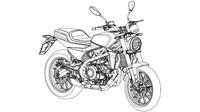 Gambar Paten Sketsa Harley-Davidson 338R Bocor