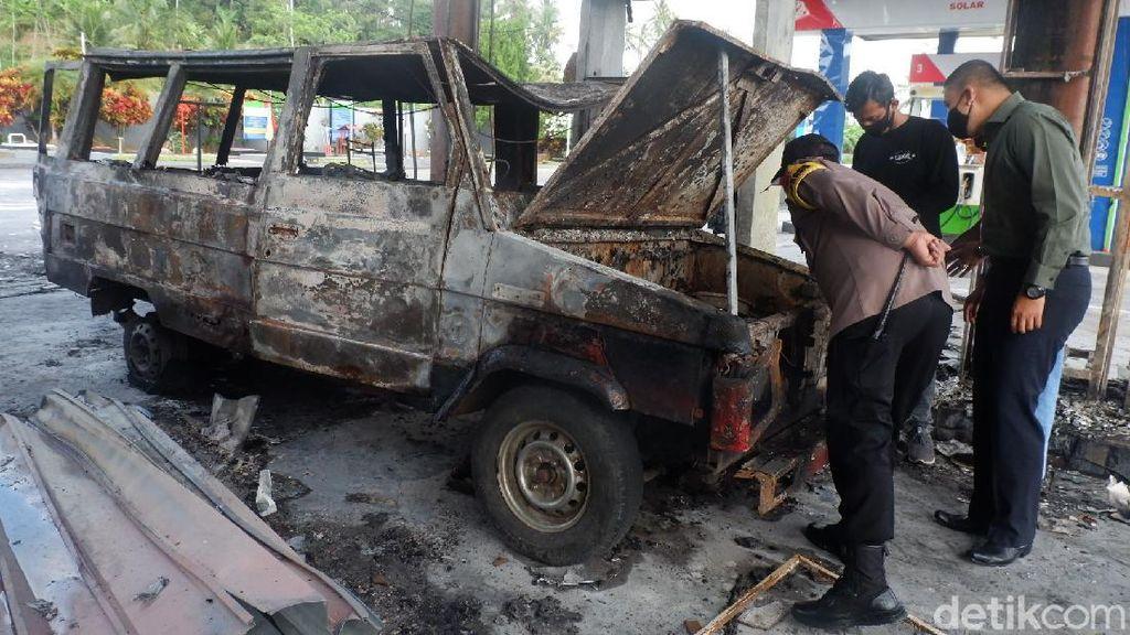Sopir Minibus Pemicu Kebakaran di SPBU Sawangan Wonosobo Melarikan Diri