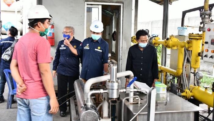 Kepala BPH Migas M Fanshurullah Asa dan Anggota Komisi VII DPR RI Ridwan Hisjam melakukan kunjungan kerja ke Demak.