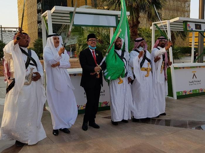 Dubes RI untuk Arab Saudi Agus Maftuh menghadiri hari Nasional Arab Saudi ke-90
