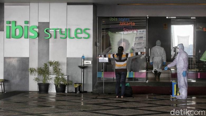 Hotel Ibis Styles Mangga Dua, Jakarta, dijadikan tempat untuk isolasi mandiri pasien Orang Tanpa Gejala (OTG).