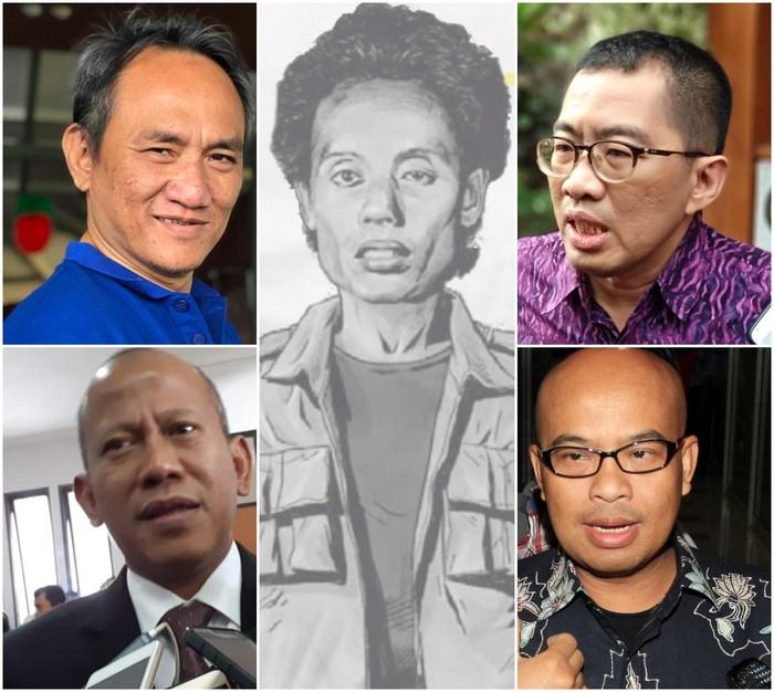 Ilustrasi para korban penculikan Tim Mawar (Repro detikcom)