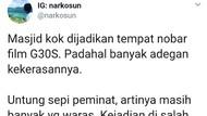 Viral Masjid di Malang Jadi Tempat Nobar Film G30S/PKI