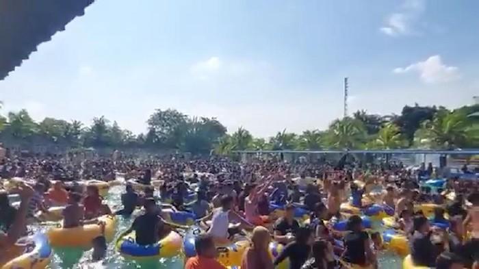 Beredar video party atau pesta di kolam renang. Disebut-sebut peristiwa itu terjadi di Deli Serdang, Sumut. Satgas COVID-19 turun tangan.