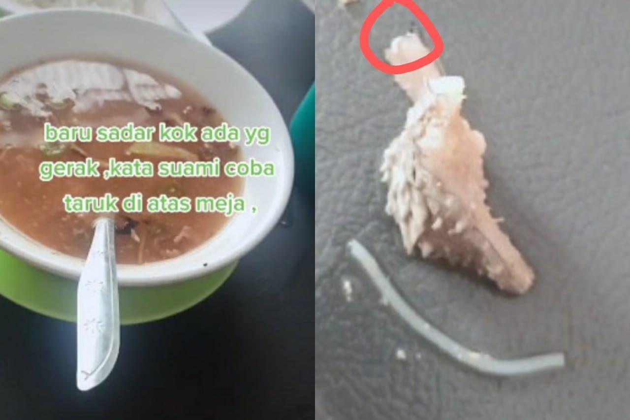 Temukan Ulat di Soto Daging