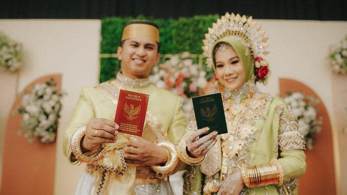 Viral Lurah Samata, Kabupaten Gowa, Sulsel nikahi gadis dengan mahar Rp 3 miliar (dok. Istimewa).