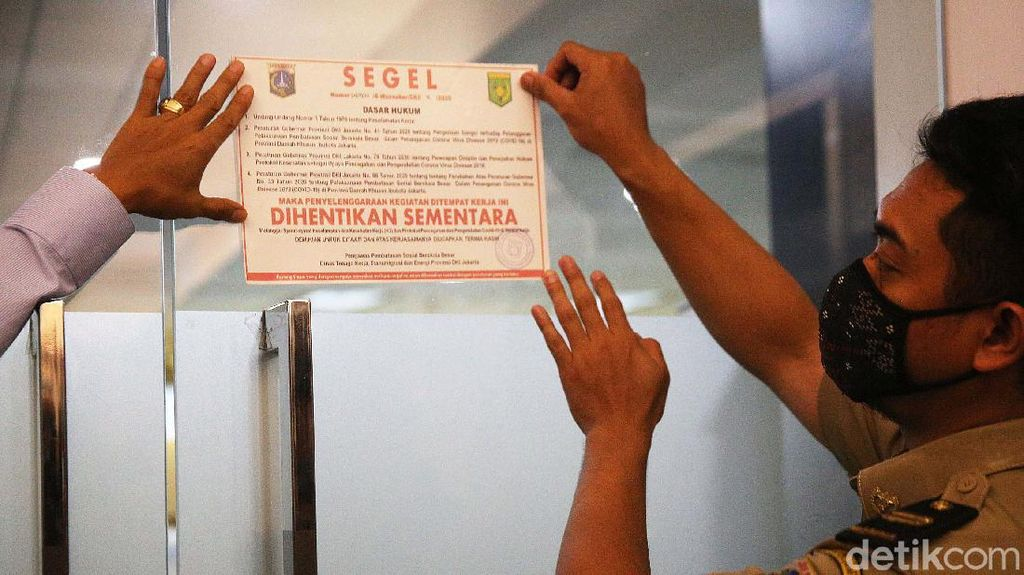 113 Perusahaan Ditutup Saat PSBB Ketat di Jakarta
