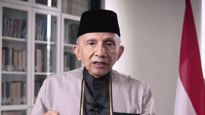 Amien Rais mengumumkan partai barunya, Partai Ummat (Dok. Screenshot YouTube Amien Rais).