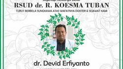 Dokter RSUD Koesma Tuban Meninggal Karena COVID-19