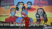 Kampanye Protokol Kesehatan Lewat Mural Jalanan