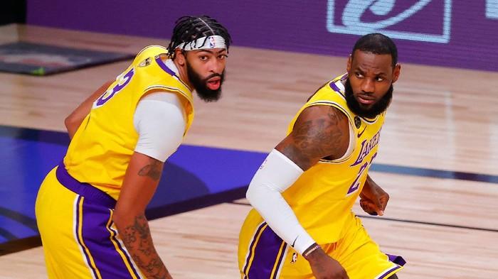 LA Lakers menang atas Miami Heat di gim pertama Final NBA 2020 yang berlangsung di Florida, Kamis 1 Oktober 2020.