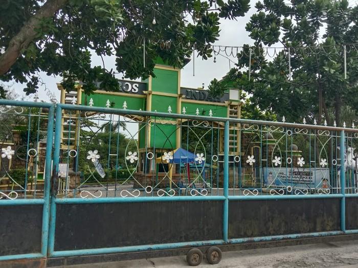 Lokasi water park di Deli Serdang yang viral usai ada party saat pandemi Corona (Ahmad Arfah-detikcom)
