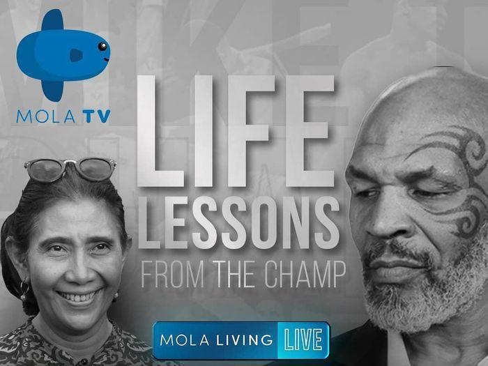 Mike Tyson bincang-bincang dengan Susi Pudjiastuti di Mola TV.