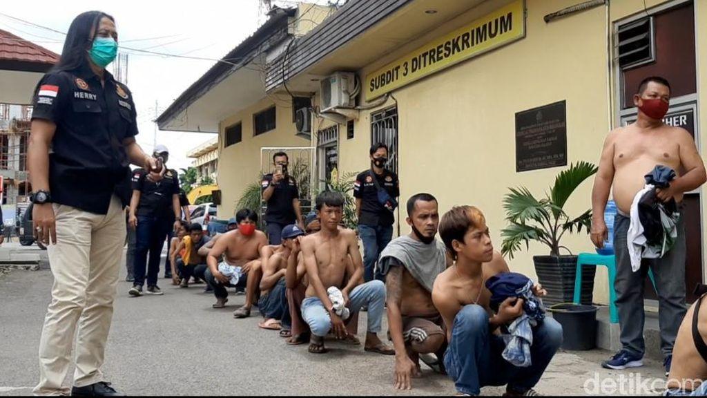 Operasi Preman, Polda Sumsel Amankan 46 Orang-Sita Lem Aibon
